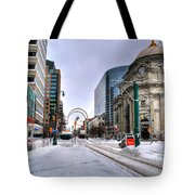 Clearing The Way...downtown Buffalo Ny 2014 Tote Bag