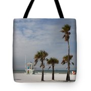Clearwater Beach In Wintertime Tote Bag