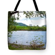 Clearwater River In Nez Perce National Historical Park-id  Tote Bag