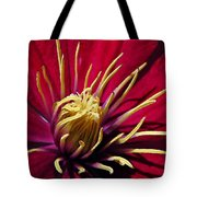 Clematis Center In Oils Tote Bag