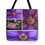 Clematis Collage Tote Bag