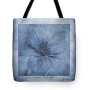 Clematis Cyanotype Tote Bag