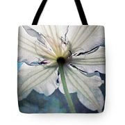 Clematis In Morning Sun Tote Bag