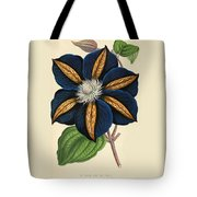 Clematis Star Of India Tote Bag