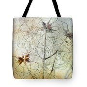 Clematis Virginiana Seed Head Textures Tote Bag