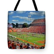 Clemson Tiger Band Memorial Stadium Tote Bag