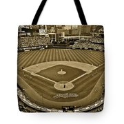 Cleveland Baseball In Sepia Tote Bag