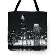 Cleveland Black Night Tote Bag