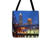 Cleveland Blue Hour Panoramic Tote Bag