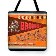 Cleveland Browns 1959 Retro Print Tote Bag