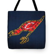 Cleveland Cavaliers Nba Team Retro Logo Vintage Recycled License Plate Art Tote Bag