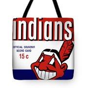 Cleveland Indians 1957 Scorecard Tote Bag