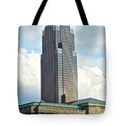 Cleveland Key Bank Building Tote Bag by Frozen in Time Fine Art Photography