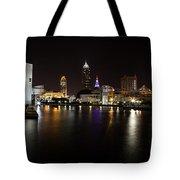 Cleveland Lakefront Nightscape Tote Bag