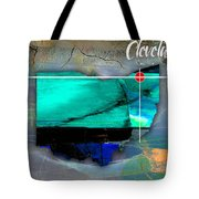 Cleveland Ohio Map Watercolor Tote Bag