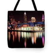 Cleveland Panoramic Reflection Tote Bag