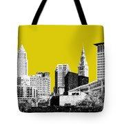Cleveland Skyline 3 - Mustard Tote Bag