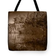 Cliff Face Northshore Mn Bw Tote Bag