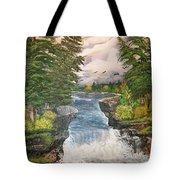 Cliff Falls Tote Bag