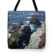 Cliffs And Coastline At California's Point Lobos State Natural Reserve Tote Bag by Bruce Gourley