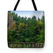 Cliffs High Above Road Tote Bag