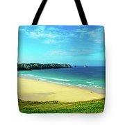 Cliffs In The Sea, Pointe De Pen-hir Tote Bag