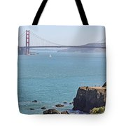 Cliffs Near Golden Gate Bridge Tote Bag