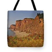 Cliffs Of Cape D'or From A Promontory Over Advocate Bay-ns Tote Bag
