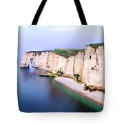 Cliffs Of Etretat 3 Tote Bag