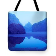 Cliffs On The Coast At Dawn, Meyers Tote Bag
