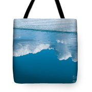 Climate Change Blue Arctic Water Reflected Clouds Tote Bag