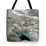 Climate Change Melting Glacier Ice And Sheer Rock Tote Bag
