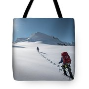 Climbers Nearing The Summit Tote Bag