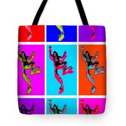 Climbing Frogs Tote Bag
