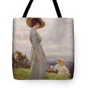 Climbing Up The Hillside Tote Bag