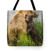 Clinging To Mom Tote Bag