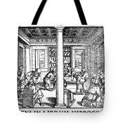 Clinic Scene, 1550 Tote Bag