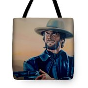 Clint Eastwood Painting Tote Bag