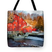 Clinton Mill In Winter Tote Bag