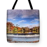 Clinton Nj Historic Red Mill Pano Tote Bag