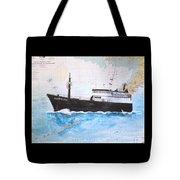 Clipper Epic Longline Fishing Boat Nautical Chart Map Art Tote Bag