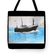 Clipper Express Longline Fishing Boat Nautical Chart Map Art Tote Bag