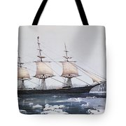 Clipper Ship Red Jacket In The Ice Off Cape Horn On Her Passage From Australia To Liverpool Tote Bag