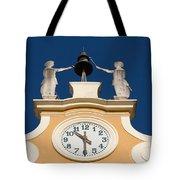 Clock Tower In Bardolino Tote Bag