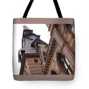 Clock Tower In New Haven Connecticut Tote Bag