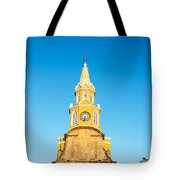 Clock Tower Of Cartagena Tote Bag