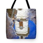 Clock Tower Reflected Tote Bag