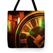 Clocks Tote Bag by William Selander