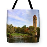 Clocktower And Autumn Colors Tote Bag