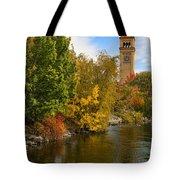 Clocktower In Fall Tote Bag